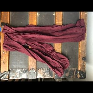 Free people maroon over the knee socks